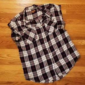 Jachs Girlfriend Womens Button Down Shirt